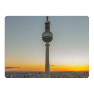Fernsehturm torre de Berlín, Berlín TV, Alemania Invitación 16,5 X 22,2 Cm