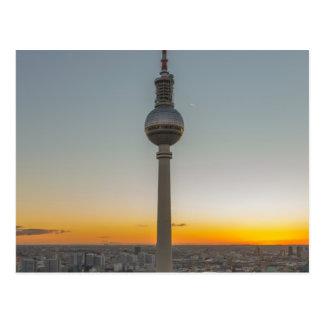 Fernsehturm torre de Berlín, Berlín TV, Alemania Tarjeta Postal