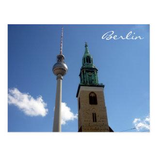 fernsehturm tower postcard