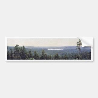 Fernsicht Kaman River By Schischkin Iwan Iwanowits Bumper Sticker