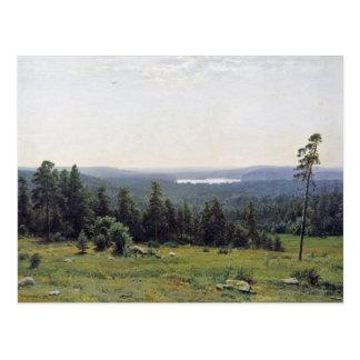 Fernsicht Kaman River By Schischkin Iwan Iwanowits Post Card