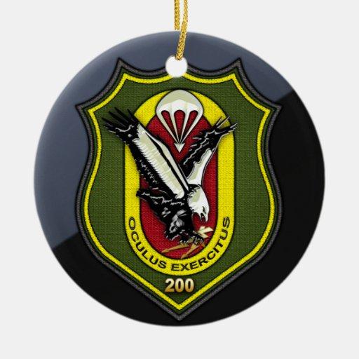 Fernspählehrkompanie 200 [FSLK200] Double-Sided Ceramic Round Christmas Ornament