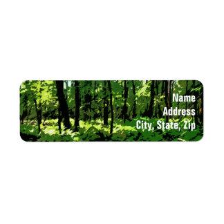 """Ferny Forest"" Return Address Label"