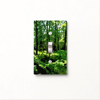 """""""Ferny Forest"""" Light Switch Cover"""