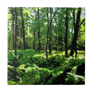 """Ferny Forest"" (Reversed) Tile"