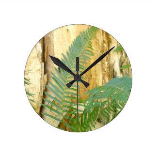 Ferny Forest Round Clock