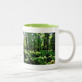 """""""Ferny Forest"""" Two-Tone Coffee Mug"""
