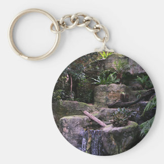 Ferny grotto basic round button keychain
