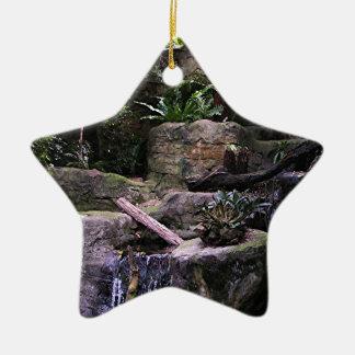 Ferny grotto ceramic ornament