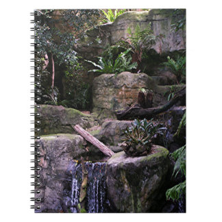 Ferny grotto spiral notebook