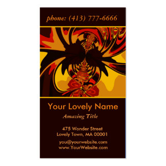 Ferocious, Abstract Amber and Orange Creature Business Card