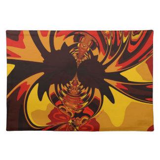 Ferocious – Amber & Orange Creature Cloth Placemat