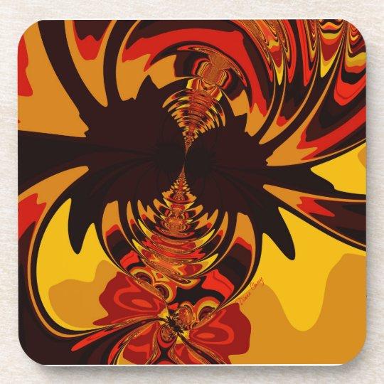 Ferocious – Amber & Orange Creature Drink Coaster