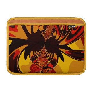 Ferocious – Amber Orange Creature Sleeves For MacBook Air
