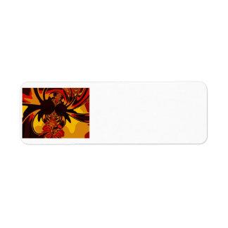 Ferocious – Amber & Orange Creature Return Address Label