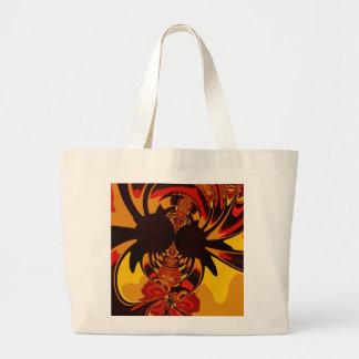 Ferocious – Amber & Orange Creature Large Tote Bag
