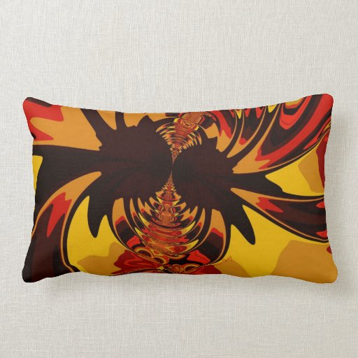 Ferocious – Amber & Orange Creature Throw Pillows