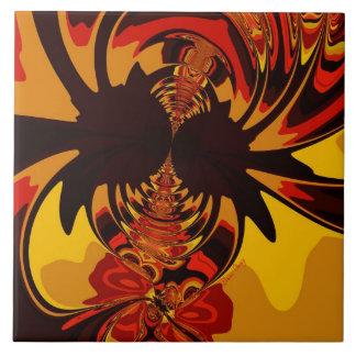 Ferocious – Amber & Orange Creature Tile