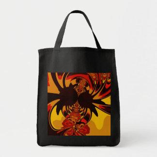 Ferocious – Amber & Orange Creature Tote Bag