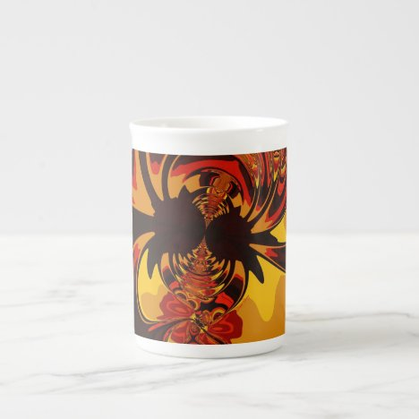 Ferocious – Amber & Orange Critter Bone China Mug