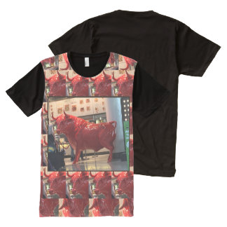 Ferocious BULL Animal Sports Red Danger Zone Gifts All-Over-Print T-Shirt