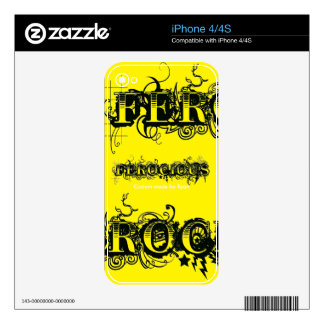 Ferocious Custom Made For Your Name Skin For The iPhone 4