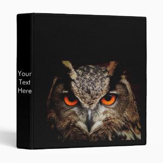 Ferocious Owl 3 Ring Binder