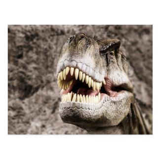 Ferocious T-Rex Head Postcard