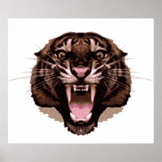 Ferocious Tiger Print