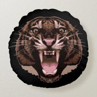 Ferocious Tiger Round Pillow
