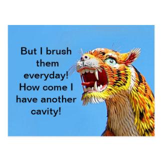 Ferocious Tiger Sculpture Postcard