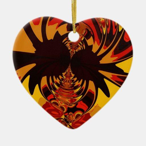 Feroz - criatura ambarina y anaranjada ornamentos de reyes magos