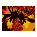 Feroz - criatura ambarina y anaranjada postales