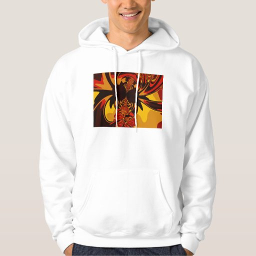 Feroz - criatura ambarina y anaranjada sudaderas