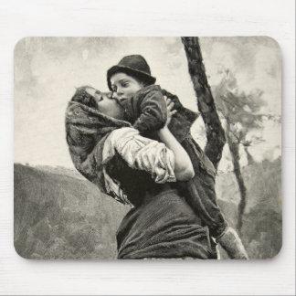 Ferraguti Love Mother Son Child Kiss Vintage Art Mouse Pad