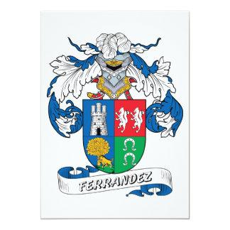 Ferrandez Family Crest 5x7 Paper Invitation Card