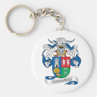 Ferrandez Family Crest Basic Round Button Keychain