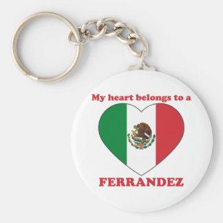 Ferrandez Basic Round Button Keychain