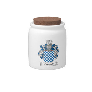 Ferranti Family Crest Candy Jar