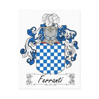 Ferranti Family Crest Canvas Prints