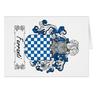 Ferranti Family Crest Greeting Card