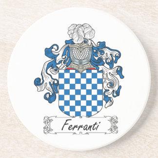 Ferranti Family Crest Drink Coaster