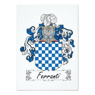 Ferranti Family Crest Custom Invitation