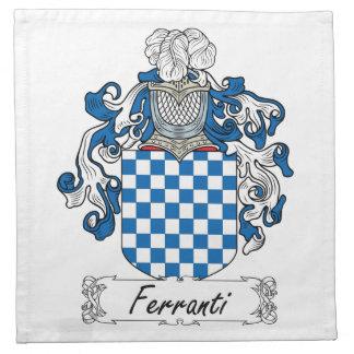 Ferranti Family Crest Napkin