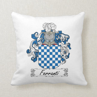 Ferranti Family Crest Throw Pillows