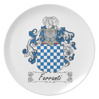 Ferranti Family Crest Dinner Plates