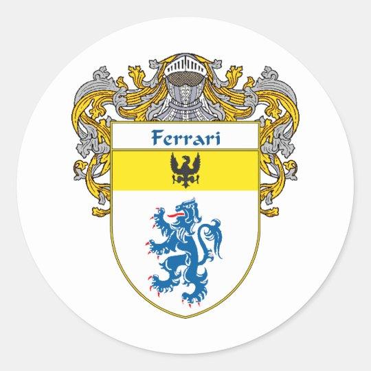 Ferrari Coat of Arms (Mantled) Classic Round Sticker