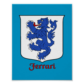 Ferrari Family Shield Print