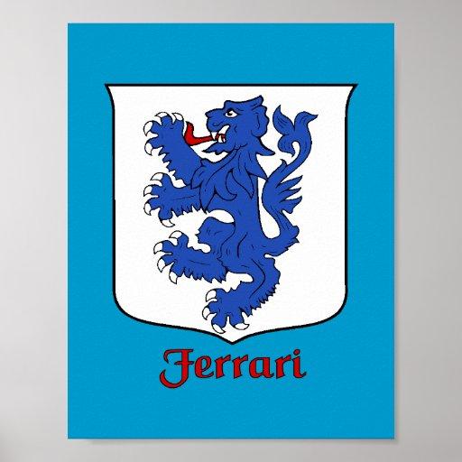Ferrari Family Shield Print