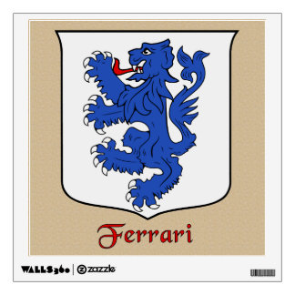 Ferrari Historical Shield on Parchemnt Style Wall Sticker